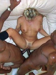 Two black cocks at once in amateur..