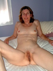 Mature wife with shaved pussy and small..