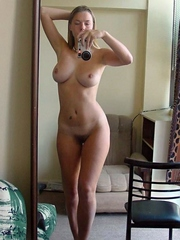 Selfpics of hot busty blonde gf showing..