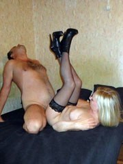 Wild russian mature wife threw her..