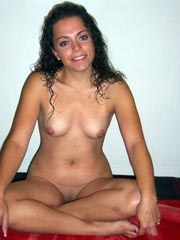 Latin wife shows her firm breasts and..
