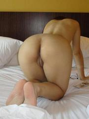 German wife shows her hot naked body