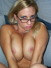 Blonde ex girlfriend shows her big firm..