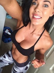 Muscled girls erotic self-shot photos