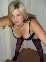 Hot chubby wife in lingerie shows her..