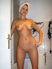 Hairless gf with firm breasts nude in..