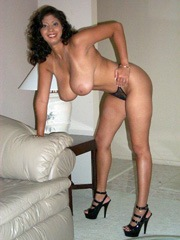 Latin wife shows her huge natural breasts