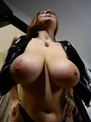 Wife with huge natural breasts doing..