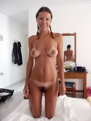 Slim and beautiful sun kissed wife..
