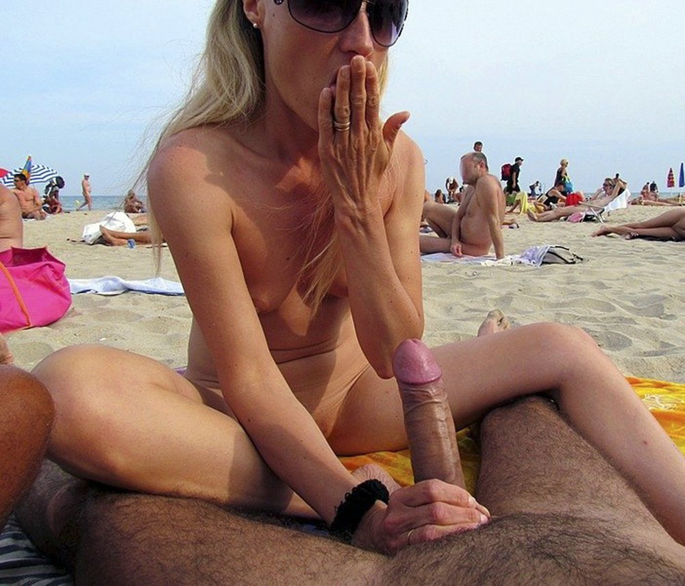 Description: Amateur sex on the beach. Mature and young women fuck ...