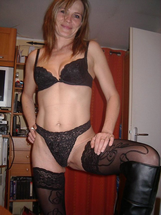 Phrase Amateur mature black lingerie think