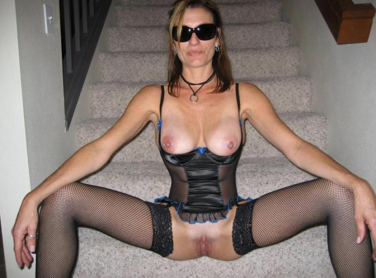 image British wife in body stocking takes 9 inch bc
