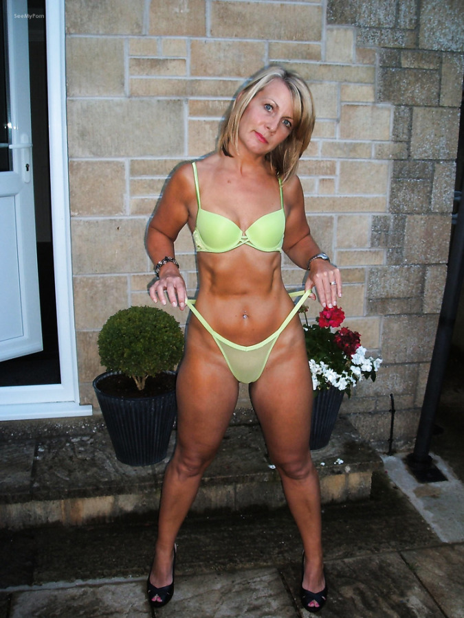 Description: Naughty blonde mom parading scantily clad blowjob and ...