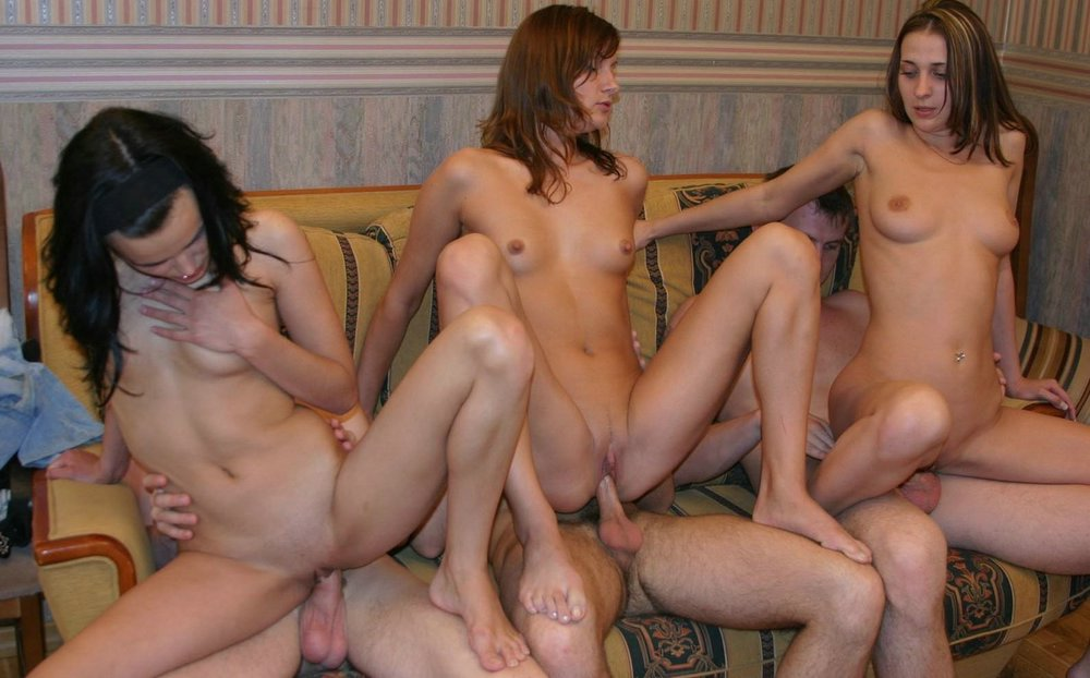 Nude mixed group parties