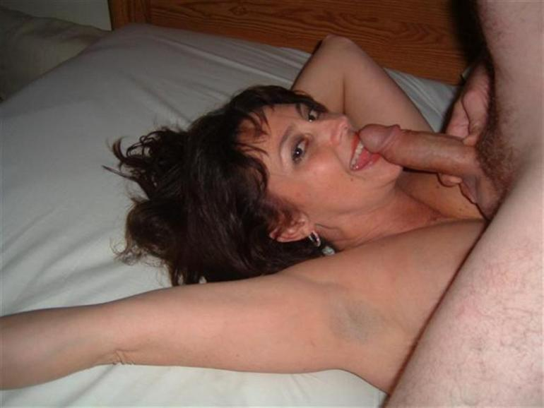 Hot Mature Slut Sucking Cock