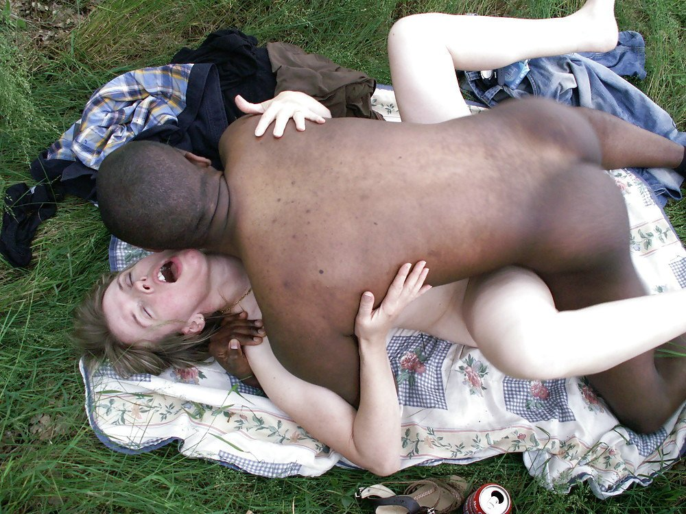 Amateur african girl gets drenched with white man039s cum
