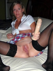 Hot And Horny Mature Blonde Wife in..