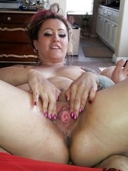 Sex hungry ex wives show their clits