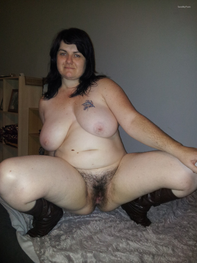 Chubby german mature gets cum on her titties