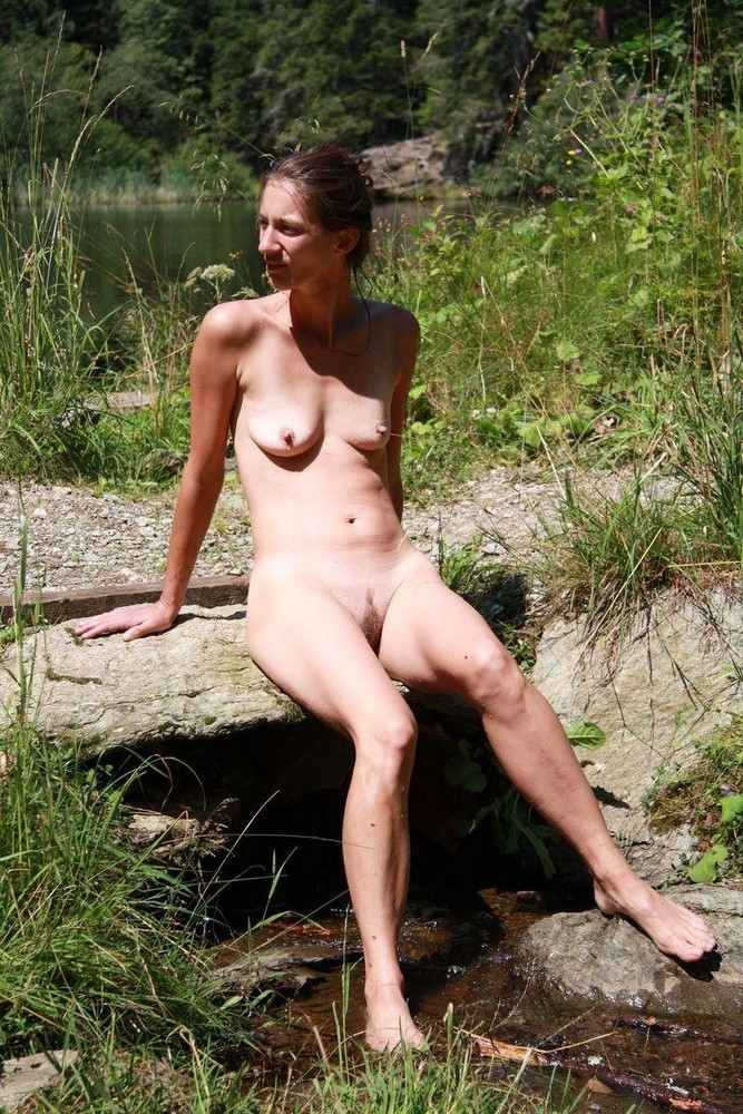 Nude Mature In The Forest-2705